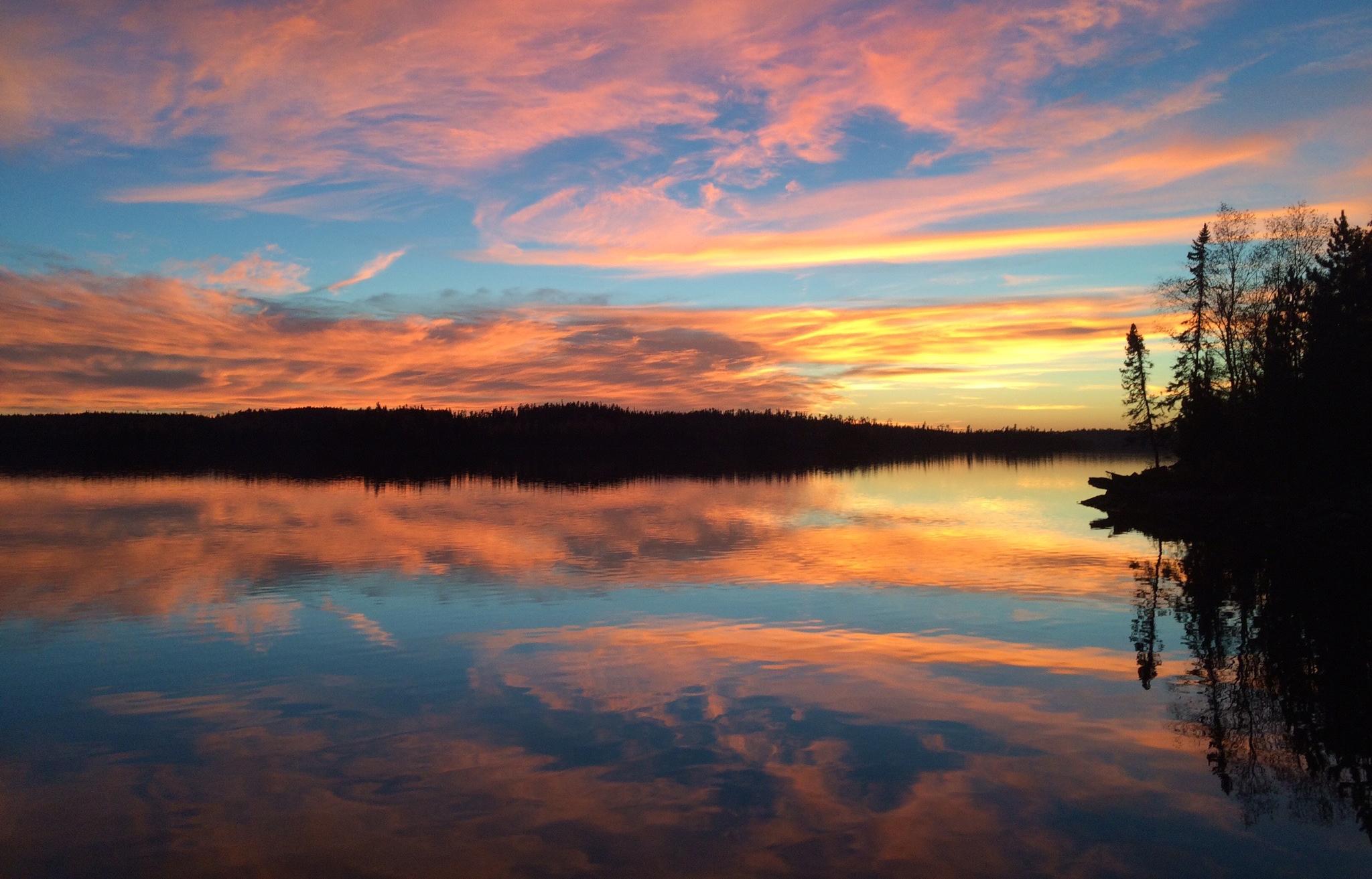 Viking Island Sunset Country Ontario Canada
