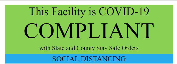 Trinity County Certificate of COVID Protocol Compliance