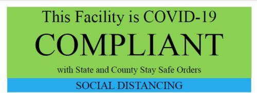 Trinity County Certificate of COVID Protocol Compliance
