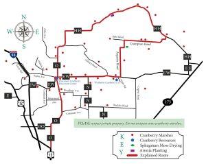 Visit Warrens Cranberry Driving Map