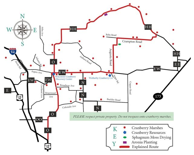 Visit Warrens Cranberry Driving Map