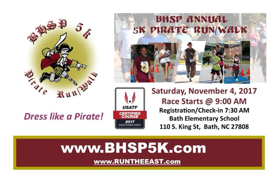 Bath – Annual BHS Preservation 5K Pirate Run/Walk