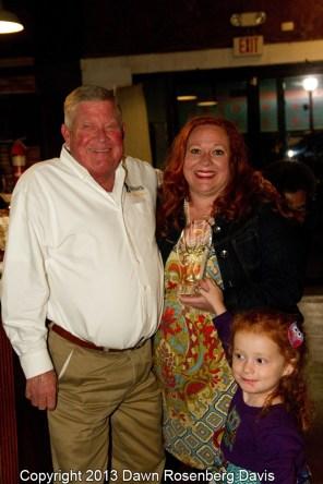 Restaurant of the Year - Ubon's Barbeque of Yazoo, accepted by Garry Roark, Leslie Roark Scott, and Ellie Scott