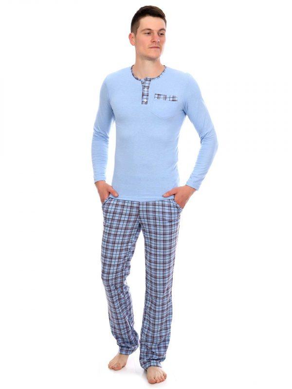 """Костюм """"Традиция-брюки"""" голубой"""