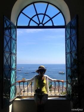 Positano - Kilisenin içinden