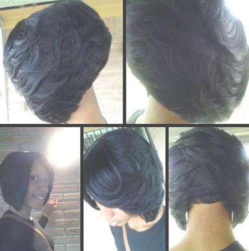 Layered Bob Hairstyles Black Women Medium Haircut Hair