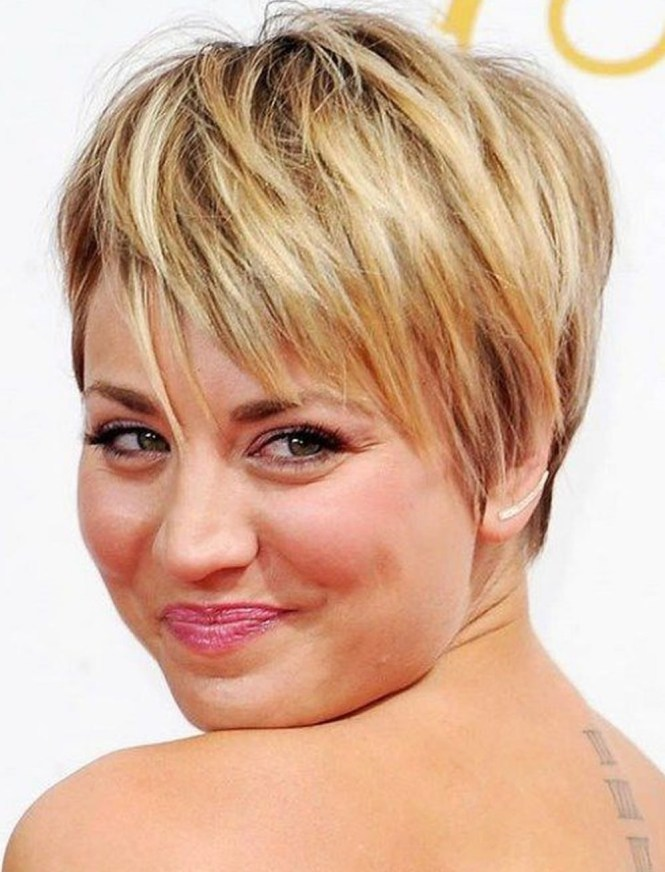 Long Layered Pixie Haircut For Round Chubby Face