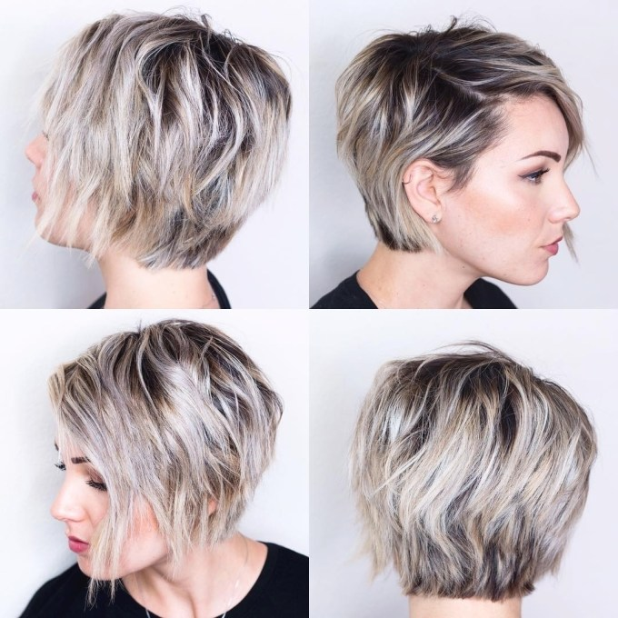 displaying gallery of short pixie hairstyles for oval faces (view 8