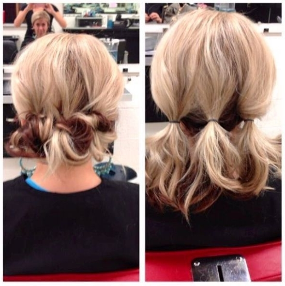 Cute Easy Updo Hairstyles For Short Hair Hairsjdi
