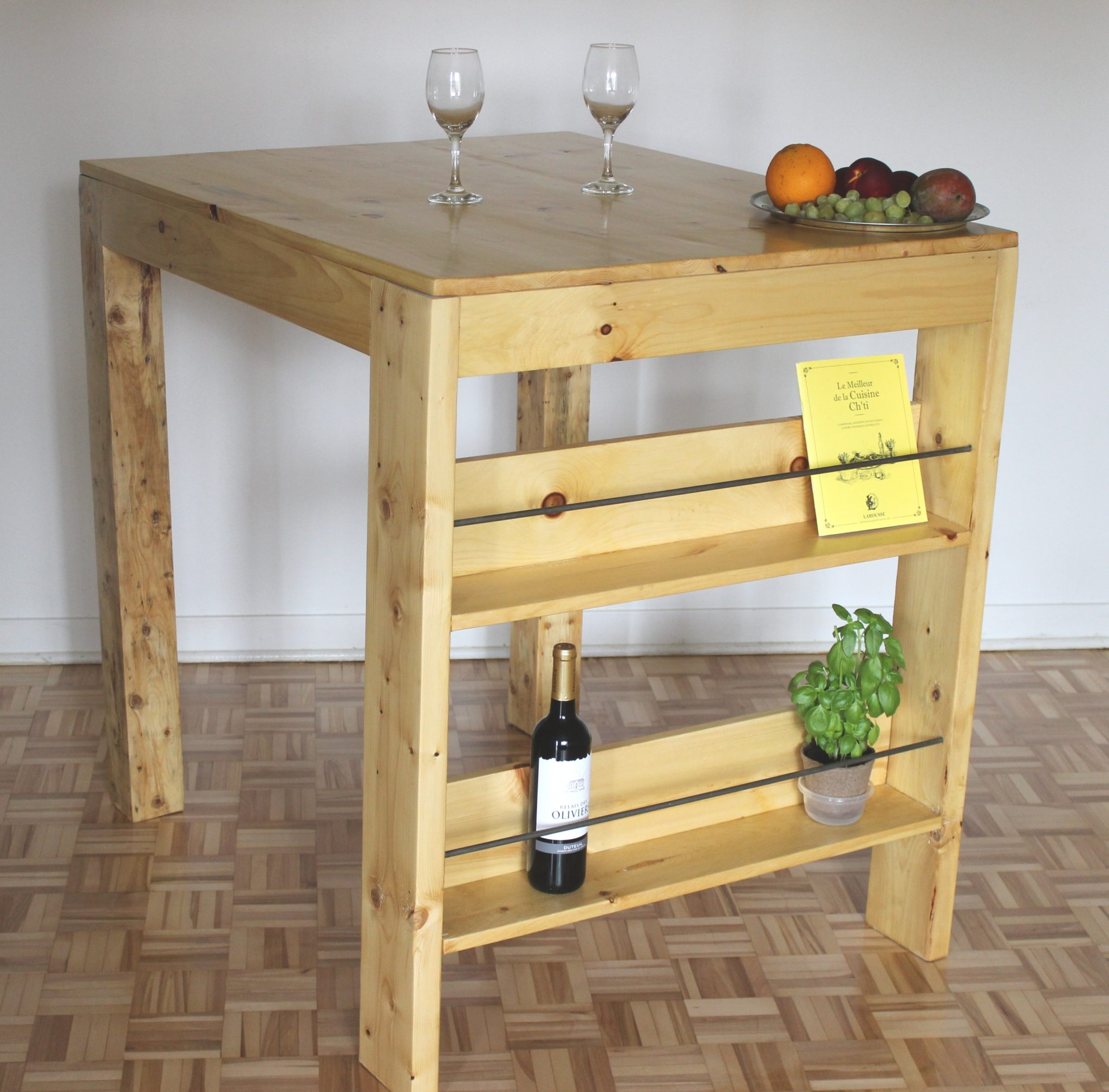 Comment faire une table haute ep02 for Table de cuisine haute