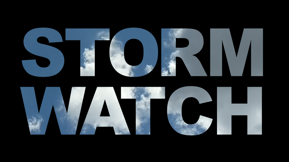 Storm Watch showing how to play video inside text in Premiere Pro