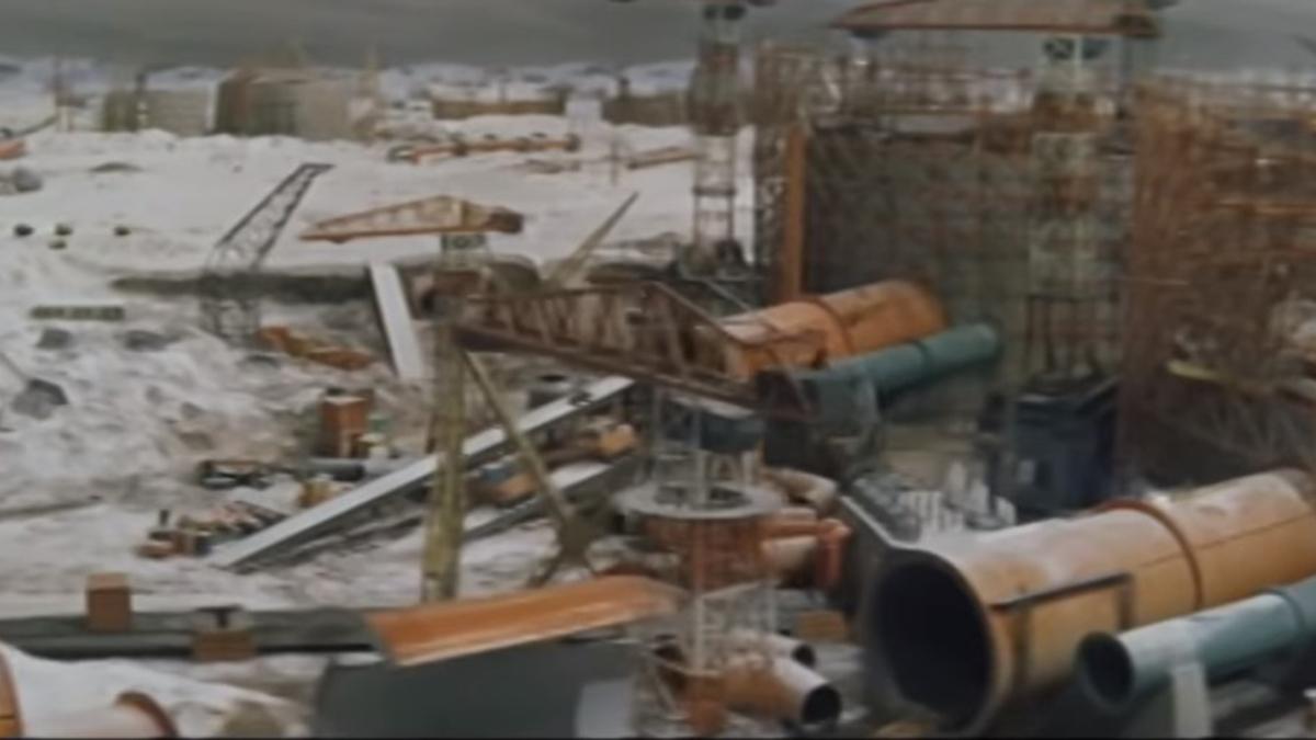 Gorath movie (1962) South Pole construction site