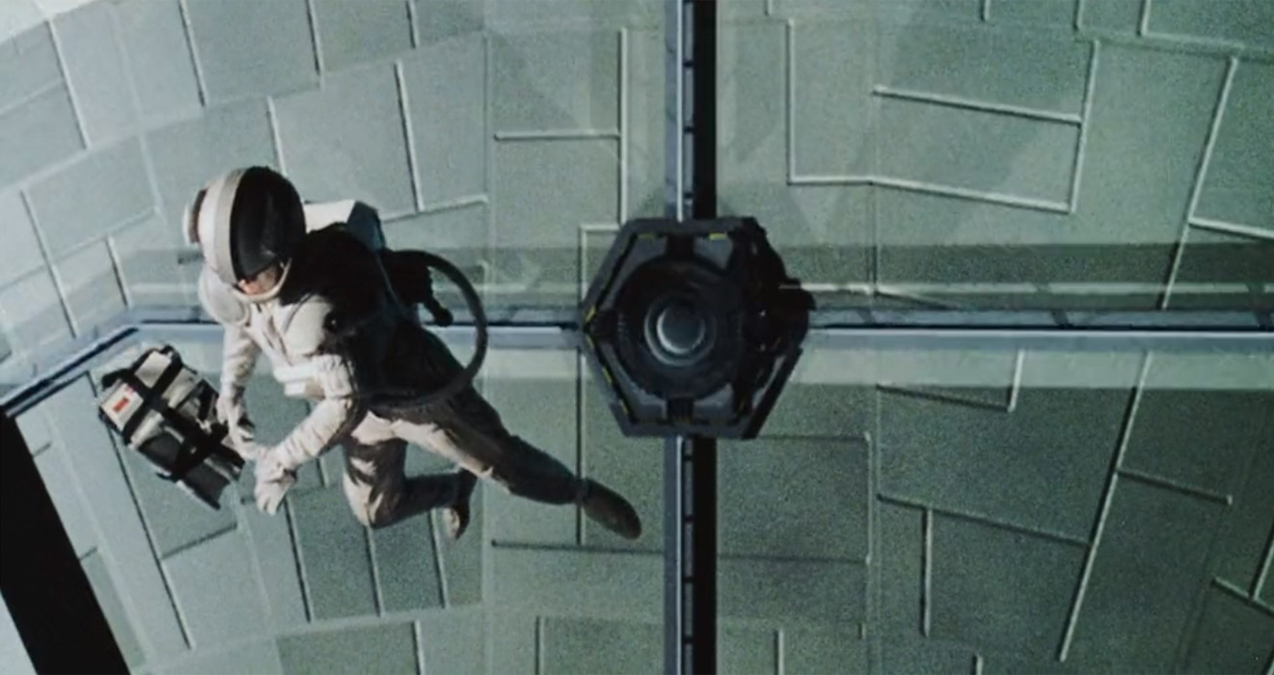 Space walk scene from film The Cusp (1996)