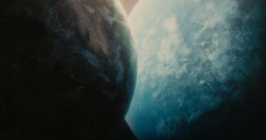 Scene showing close approach of rogue planet with Earth from film Melancholia (2011). In blog Making an Impact: Lights, Camera and Asteroid! a blog which is about asteroid impacts and comet impacts on Earth.