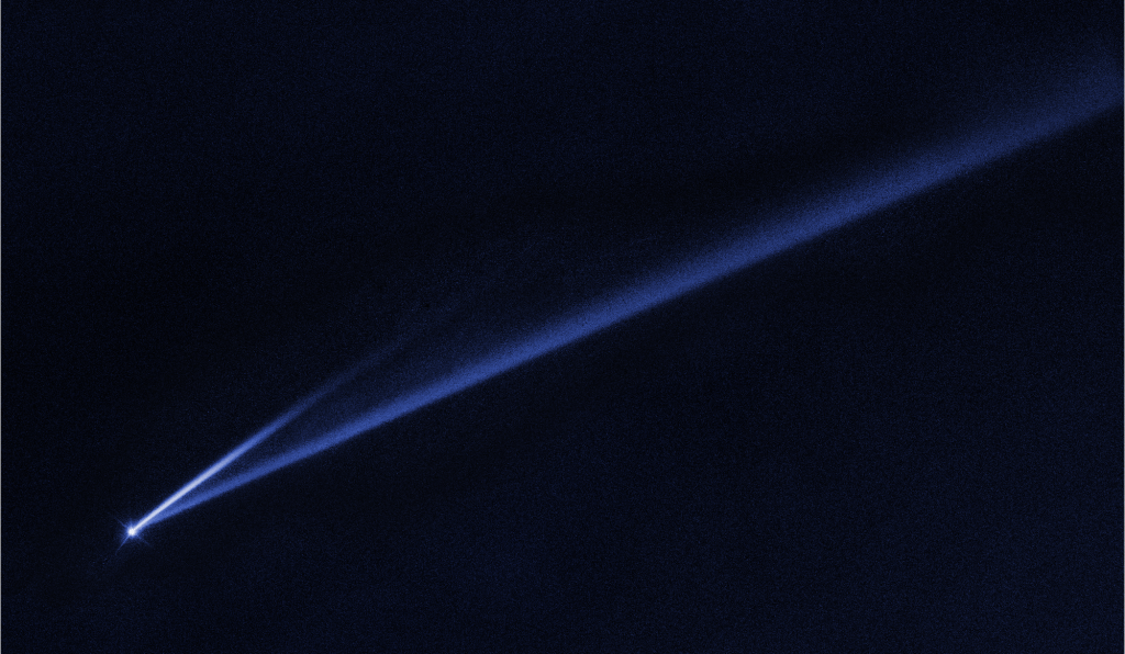 Asteroid 6478 Gault with vast tail to explain asteroid vs comet.