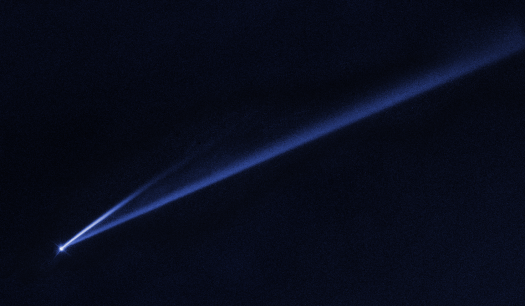 Asteroid 6478 Gault with tail. In blog post Asteroid vs Comet.