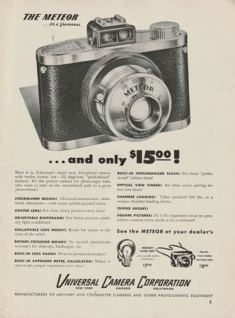 The Meteor by the Universal Camera Corporation. In blog post Scent from Heaven - an essay on the smell of meteorites, scent of meteors, and aroma of comets.