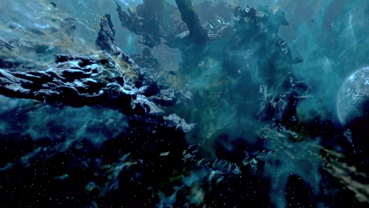 A metal asteroid the size of Texas in the film Armageddon (1998).
