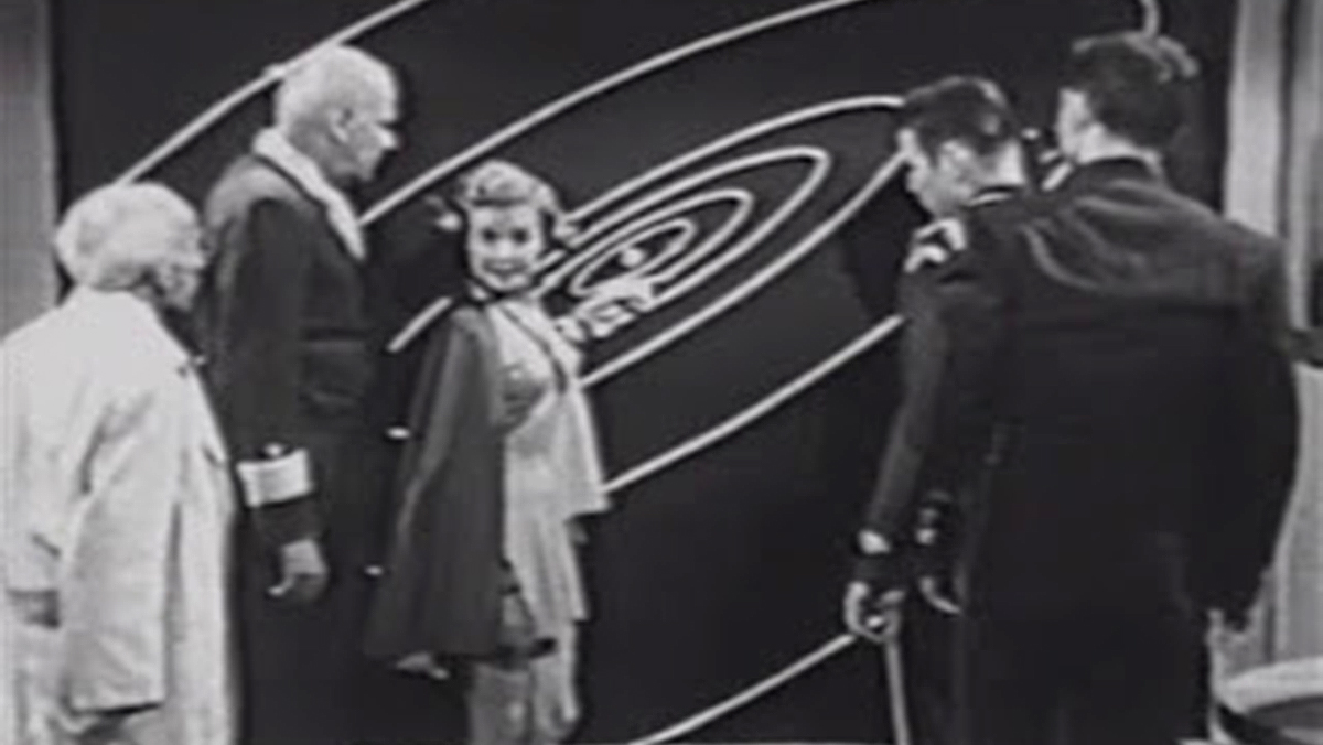 Vena explains where the missile came from in Rocky Jones, Space Ranger: Menace from Outer Space (1954)