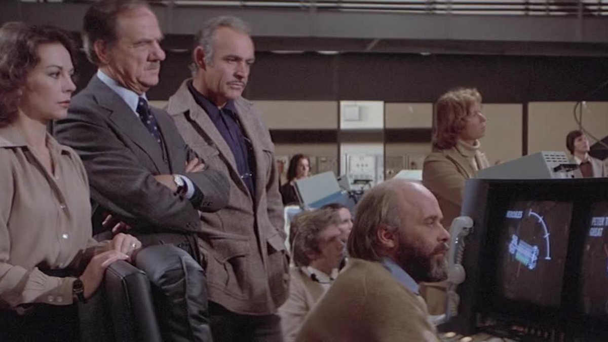 Scene from Meteor (1979) in the control room bunker under AT&T New York, in a blog which is about asteroid impacts and comet impacts on Earth.
