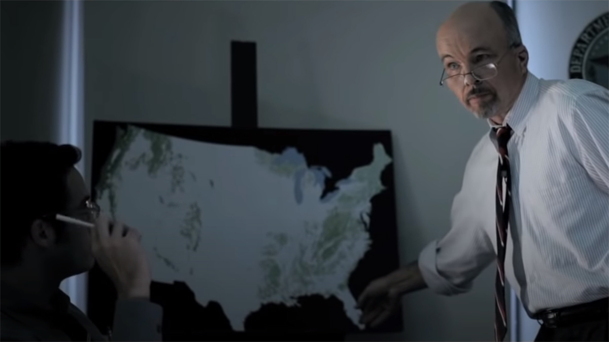 Explaining the size of an asteroid by comparing to the size of Texas on a map