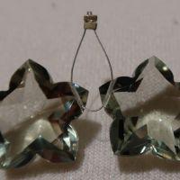 Amethyst Green star cut match pair