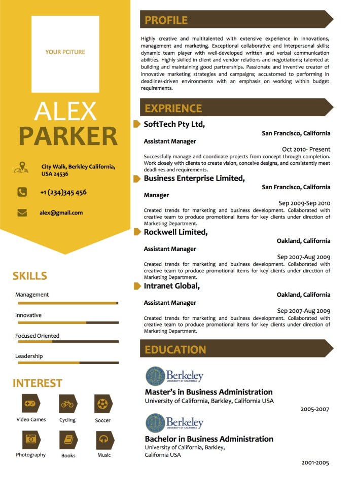 yellow_side_layout_professional_microsoft_word_resume_template
