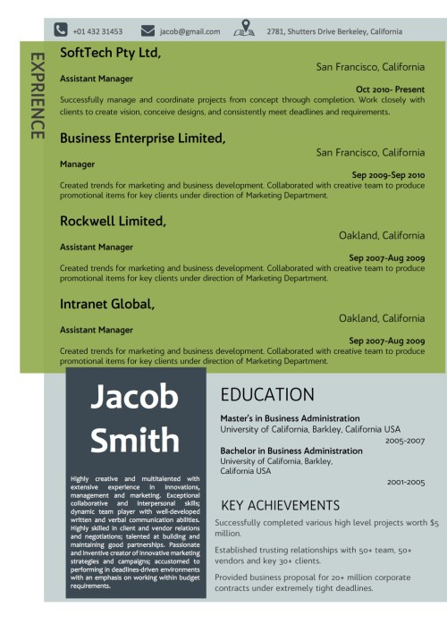 green_grey_corporate_resume