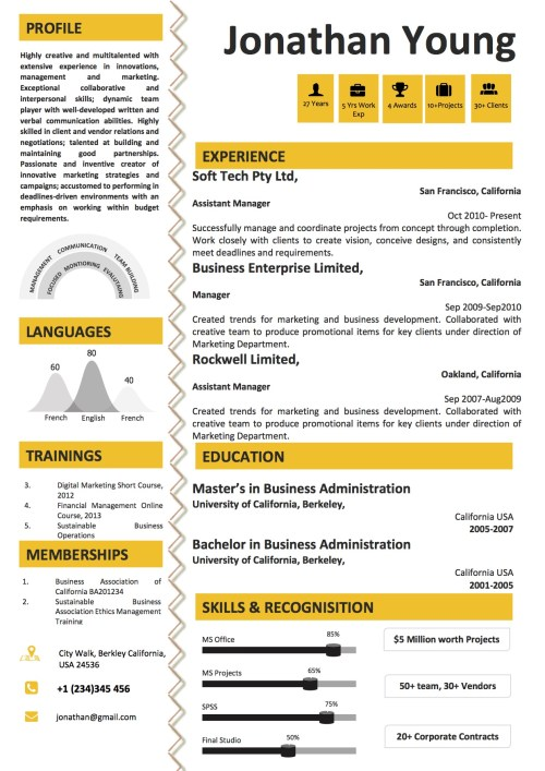 yellow_cv_format_infographics_resume_word_template