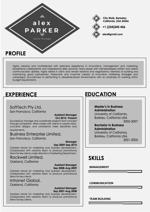 professional_grey_black_resume