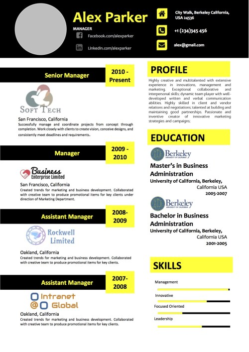 black_yellow_modern_resume