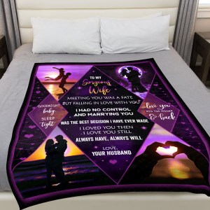 Blanket Warm For Her, Meeting You Was A Anniversary Gift For Wife Blanket H2