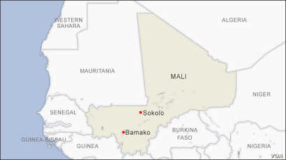 Map of Sokolo Mali