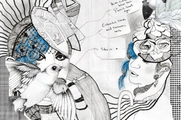 Illustration of Anna Piaggi