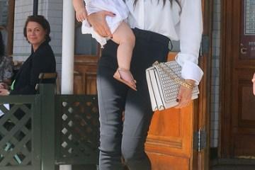 Victoria Beckham with daughter Harper in New York during fashion week