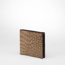 Bottega Veneta Cigar Ebano Cocco Lave Wallet on bottegaveneta.com