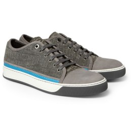 Lavin Python-Trimmed Suede and Leather Sneakers on mrporter.com