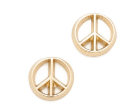 3. Bing Bang Peace Sign Stud Earrings