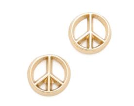 3. Bing Bang Peace Sign Stud Earrings