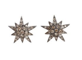 Ileana Makri Brown Diamond Centaurus Stud Earrings