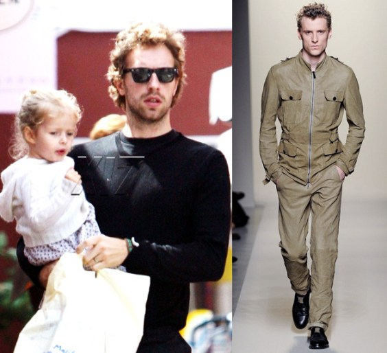 Chris Martin | Bottega Veneta Leather Jacket