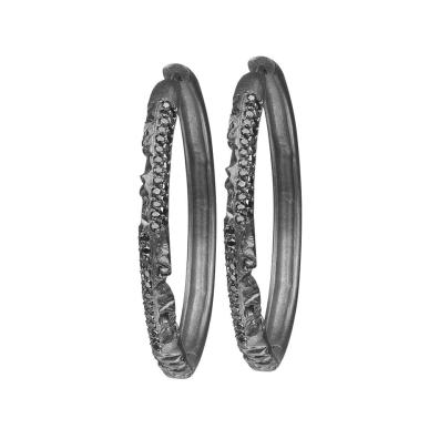 Azature Adamande Diamond Hoop Earrings