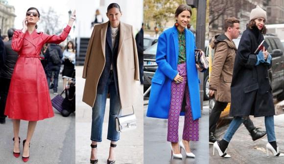 Statement coats on the street: Giovanna Battaglia, Jenna Lyons, Natasha Goldenberg, Leandra Medine