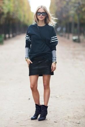 carolines-mode-Pernille-Teispaek-sweatshirt-with-leather-skirt
