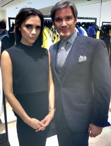 Joe Lupo and Victoria Beckham
