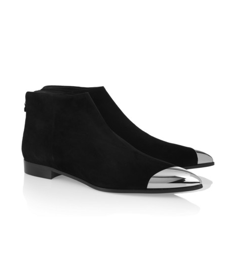 Miu Miu metal-tipped suede ankle boots