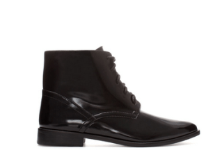 Zara flat ankle boots with laces