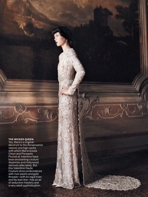 Valentino gown in Vogue US September 2013   Photo by David Sims