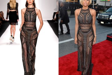 Ciara wearing J. Mendel Spring 2014 at American Music Awards 2013