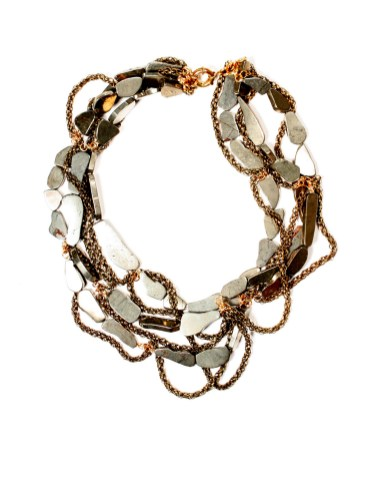 3. Susanna Galanis 3-Layer Pyrite Necklace
